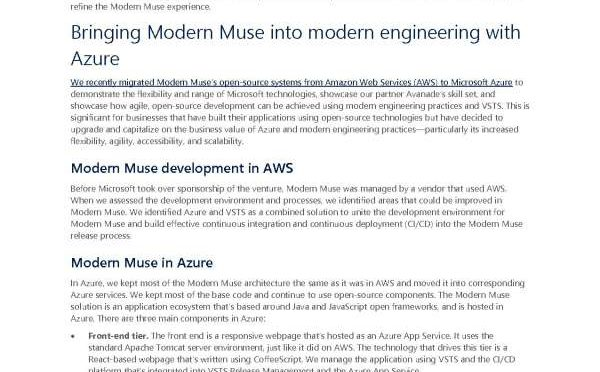 Using Azure and Visual Studio Team Services for open-source development