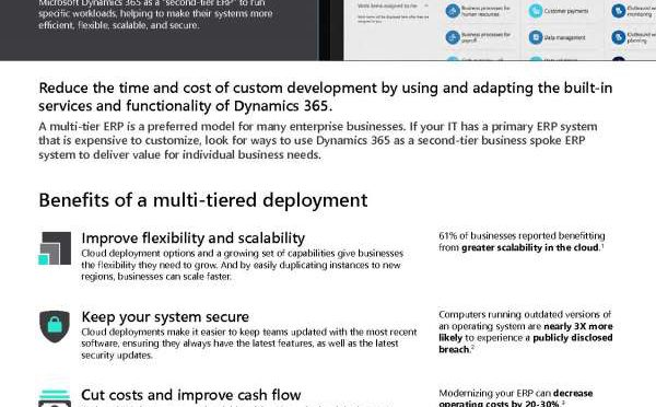 Modernize your ERP with a multi-tiered deployment for Operations Finance
