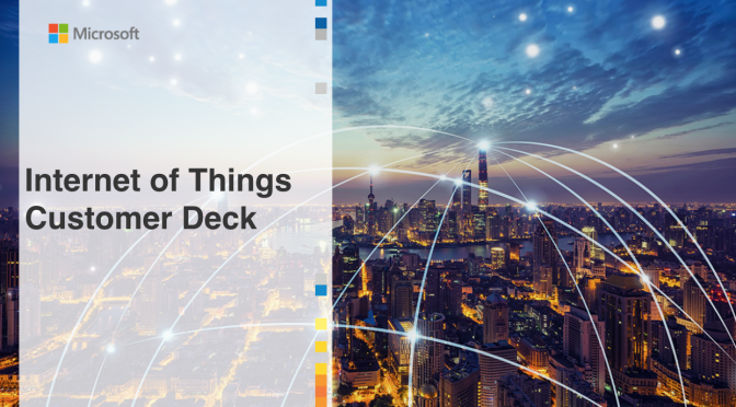 The Internet of Things Customer Deck