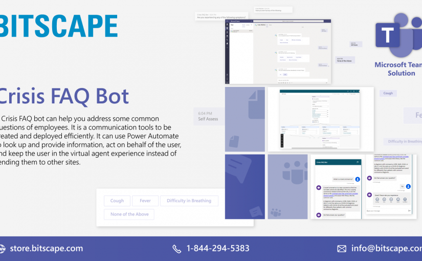 Building a Crisis FAQ bot using Power Virtual Agents | MS Teams | Bitscape Store