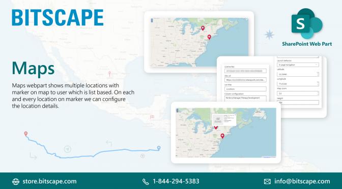 SharePoint Maps List web Part | Google Geo Mapper SharePoint Web Part