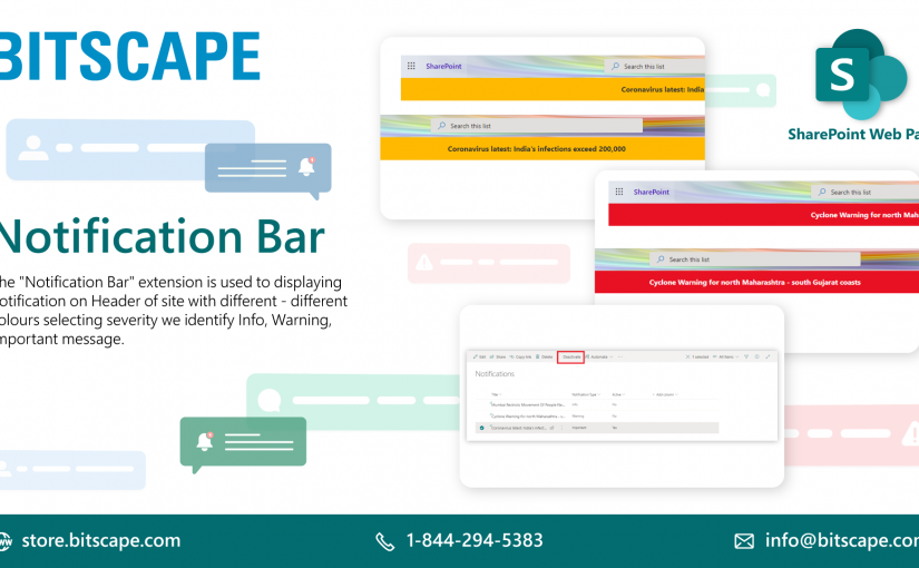 Notification Bar | Ready to use SharePoint Web Parts