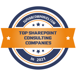 Top SharePoint Consulting Comapnies Badge